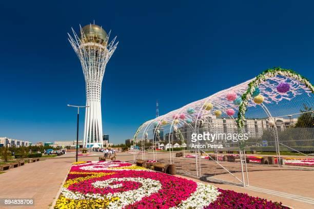 bayterek tower, nurzhol bulvar, astana - anton petrus stock pictures, royalty-free photos & images