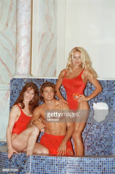Baywatch stars in a photocall in London for the TV series now appearing on British Television Pamela Anderson David Charvet Alexandra Paul Picture by...