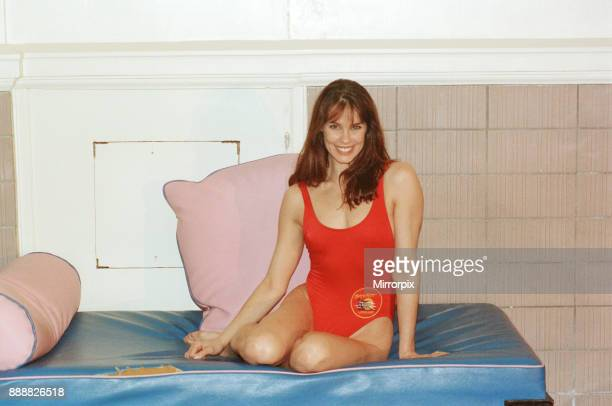 Baywatch stars in a photocall in London for the TV series now appearing on British Television Picture shows Alexandra Paul Picture by Arnold Slater...