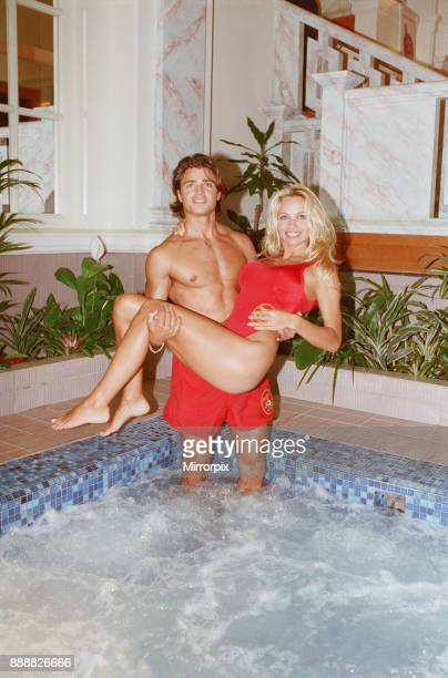 Baywatch stars in a photocall in London for the TV series now appearing on British Television Picture shows Pamela Anderson and David Charvet Picture...