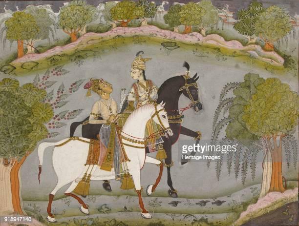 Baz Bahadur and Rupmati circa 1720 Dimensions height x width mount 405 x 557 cmheight x width painting 21 x 26 cm