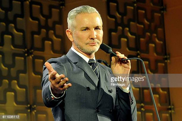 Baz Luhrmann accepts an honorary award onstage at the 2016 Clio Awards at the American Museum of Natural History on September 28 2016 in New York City