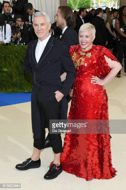 Baz Luhrmann and Catherine Martin attend the 'Rei Kawakubo/Comme des Garcons Art Of The InBetween' Costume Institute Gala at Metropolitan Museum of...