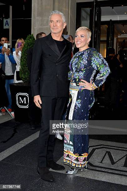 Baz Luhrmann and Catherine Martin leaves from The Mark Hotel for the 2016 'Manus x Machina Fashion in an Age of Technology' Met Gala on May 2 2016 in...