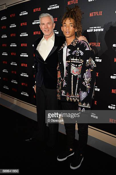 Baz Luhrmann and Jaden Smith attend 'The Get Down' New York premiere at Lehman Center For The Performing Arts on August 11 2016 in the Bronx borough...