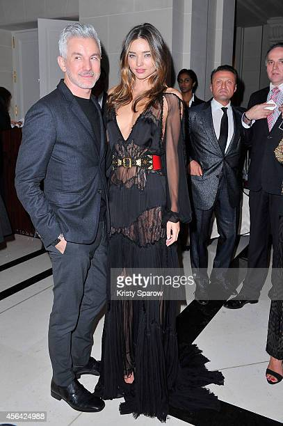 Baz Luhrmann and Miranda Kerr attend the CR Fashion Book Issue No5 Launch Party Hosted by Carine Roitfeld and Stephen Gan at The Peninsula Paris on...