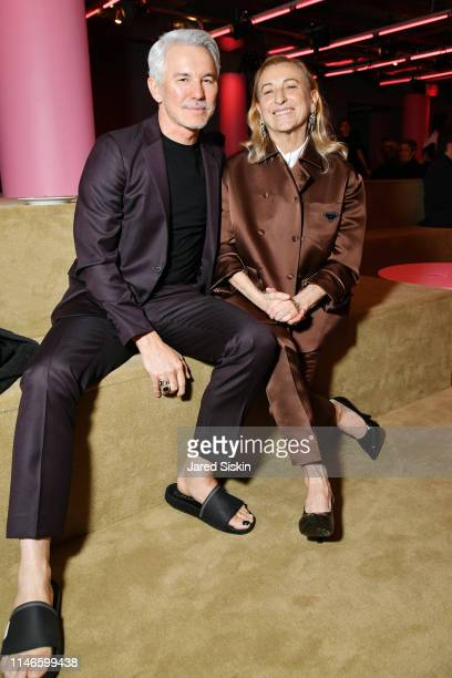 Baz Luhrmann and Miuccia Prada attend the Prada Resort 2020 fashion show at Prada Headquarters on May 02 2019 in New York City