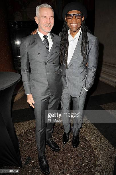 Baz Luhrmann and Nile Rodgers attend the 2016 Clio Awards at the American Museum of Natural History on September 28 2016 in New York City