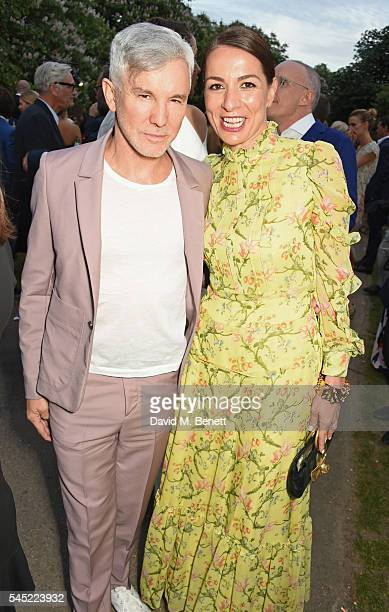 Baz Luhrmann and Yana Peel attend The Serpentine Summer Party cohosted by Tommy Hilfiger on July 6 2016 in London England