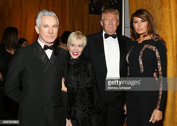 Baz Luhrmann Catherine Martin Donald Trump and Melania Trump attend The New York Ball The 20th Anniversary Benefit For The European School Of...