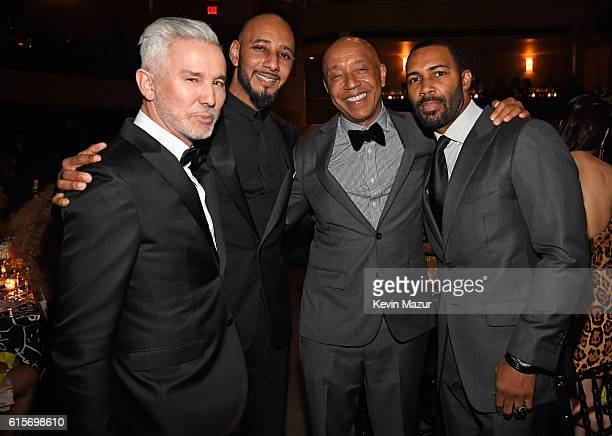 Baz Luhrmann Swizz Beatz Russell Simmons and Omari Hardwick attend Keep A Child Alive's Black Ball 2016 at Hammerstein Ballroom on October 19 2016 in...
