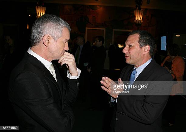 Baz Luhrmann talks with Shakespeare Festival LA Founder and Artistic Director Ben Donenberg during the 2008 Shakespeare Festival LA's Crystal Quill...