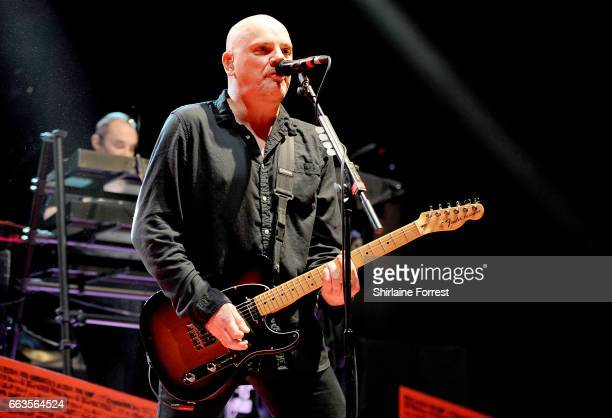 Baz Warne and Dave Greenfield of The Stranglers perform at O2 Apollo Manchester on April 1 2017 in Manchester United Kingdom