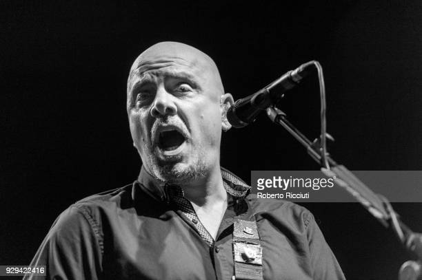 Baz Warne of The Stranglers performs on stage at O2 Academy Glasgow on March 8 2018 in Glasgow Scotland