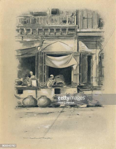 'Bazaar at Delhi' 1903 From World Pictures by Mortimer Menpes Text by Dorothy Menpes [A C Black London 1903] Artist Mortimer L Menpes