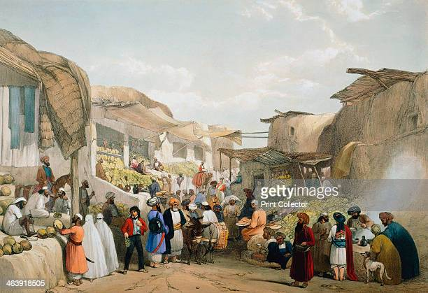 Bazaar at Kabul during the fruit season First AngloAfghan War 18381842 The British fought the AngloAfghan Wars in an attempt to block the expansion...