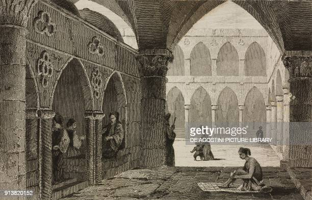 Bazaar at Saint Jean d'Acre Acre Israel engraving by Lemaitre from Turquie by Joseph Marie Jouannin and Jules Van Gaver L'Univers pittoresque Europe...
