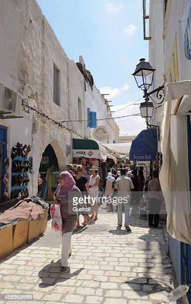 bazaar in houmt souk, tunisia - djerba stock pictures, royalty-free photos & images