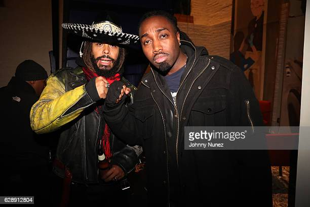 Bazaar Royale and Mr Mecca attend Young Paris' 'African Vogue' Album Listening Party on December 9 2016 in the Brooklyn borough of New York City