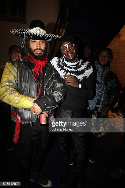 Bazaar Royale and Young Paris attend Young Paris' 'African Vogue' Album Listening Party on December 9 2016 in the Brooklyn borough of New York City