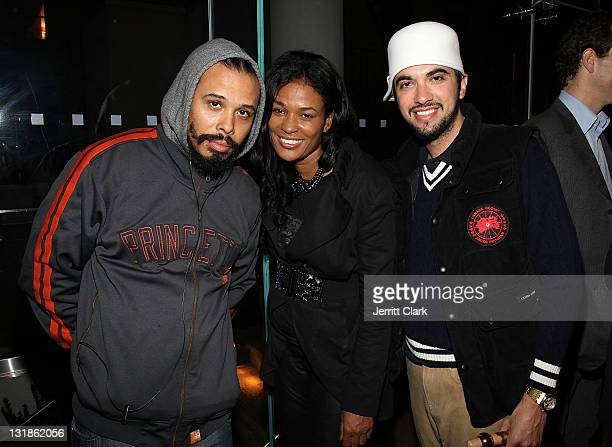 Bazaar Royale DJ Beverly Bond and DJ Cassidy attend a Hennessey Black party to celebrate DJ DNice signing to Roc Nation DJ's at The Cooper Square...