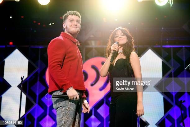 Bazzi and Camila Cabello perform at Z100's Jingle Ball 2018 at Madison Square Garden on December 7 2018 in New York City