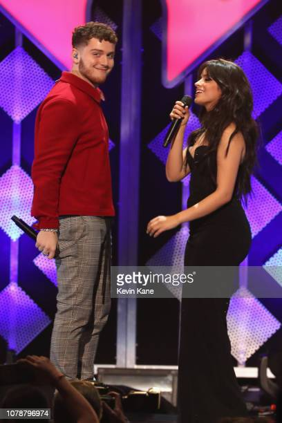Bazzi and Camila Cabello perform onstage during Z100's Jingle Ball 2018 at Madison Square Garden on December 07 2018 in New York City