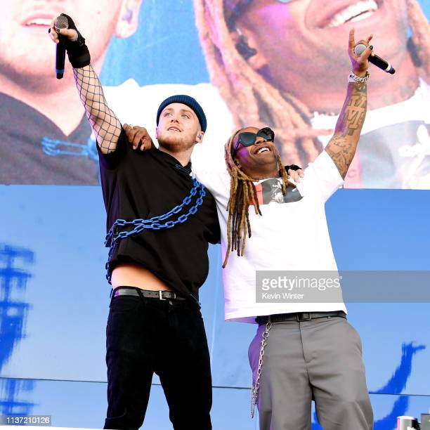 Bazzi and Ty Dolla Sign perform at Coachella Stage during the 2019 Coachella Valley Music And Arts Festival on April 13 2019 in Indio California