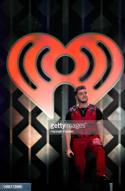 Bazzi performs onstage during 1013 KDWB's Jingle Ball 2018 at Xcel Energy Center on December 3 2018 in St Paul Minnesota