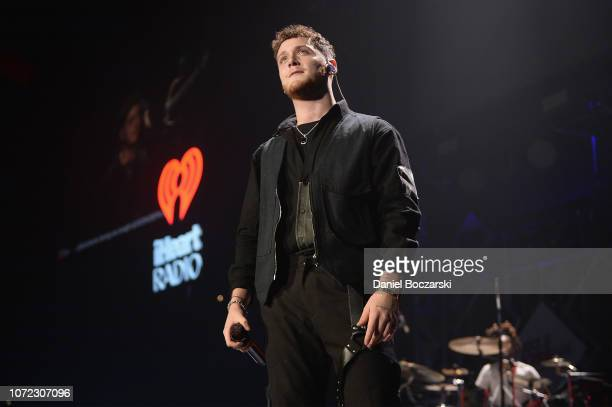 Bazzi performs onstage during 1035 KISS FM's Chicago Jingle Ball 2018 on December 12 2018 in Rosemont Illinois