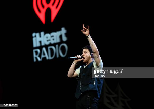 Bazzi performs onstage during 1061 KISS FM's Jingle Ball 2018 at American Airlines Center on November 27 2018 in Dallas Texas