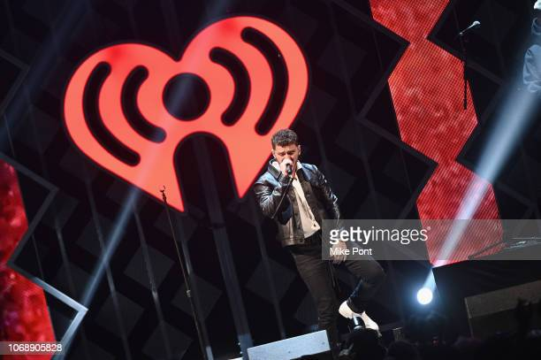 Bazzi performs onstage during Q102's Jingle Ball 2018 at Wells Fargo Center on December 5 2018 in Philadelphia Pennsylvania