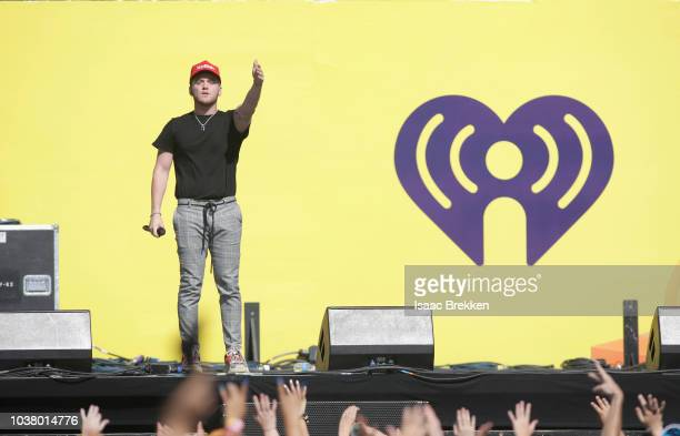 Bazzi performs onstage during the 2018 iHeartRadio Music Festival Daytime Stage at the Las Vegas Festival Grounds on September 22 2018 in Las Vegas...