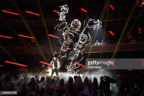 Bazzi performs onstage during the 2018 MTV Video Music Awards at Radio City Music Hall on August 20 2018 in New York City