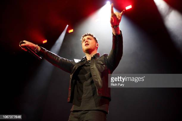 Bazzi performs onstage during WiLD 949's FM's Jingle Ball 2018 Presented by Capital One at Bill Graham Civic Auditorium on December 1 2018 in San...