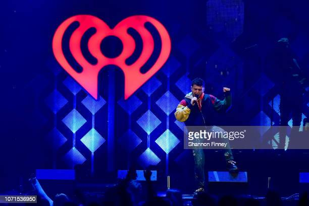 Bazzi performs onstage Hot 995's Jingle Ball 2018 at Captial One Arena on December 10 2018 in Washington DC
