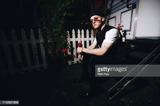 Bazzi poses for a portrait during the 2019 Coachella Valley Music And Arts Festival on April 13 2019 in Indio California