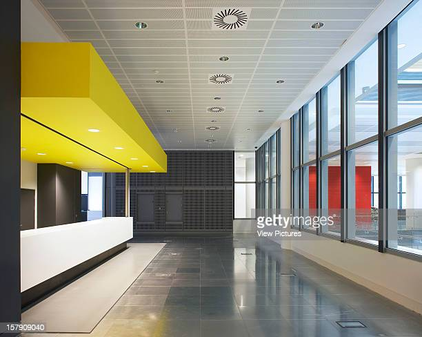 Sr/Sheppard Robson London Interior Space With Yellow CeilingOffice Architect