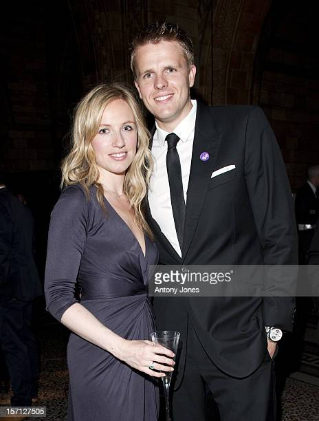 Bbc F1 Presenter Jake Humphrey And Wife At The F1 Party In Aid Of Great Ormond Street Hospital At The Natural History Museum In West London