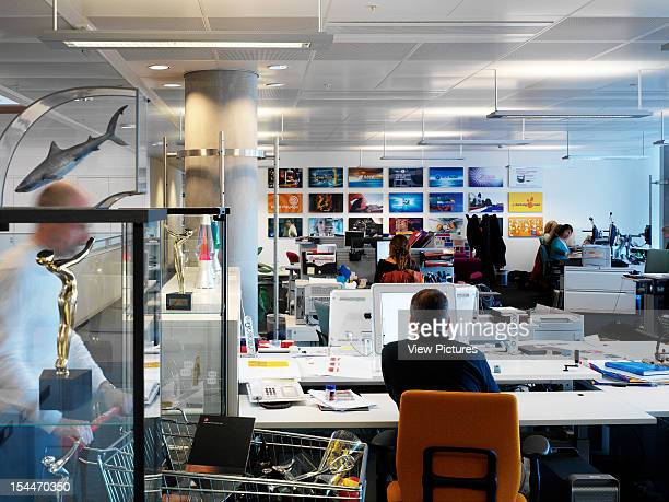 Bbc New Media Centre London United Kingdom Architect Degw Bbc Centre General View With Of Office With Awards Trolley
