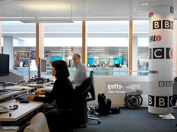 Bbc New Media Centre London United Kingdom Architect Degw Bbc New Media Centre General Office Across Atrium