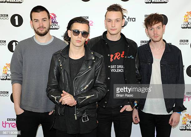Bbc Radio 1 Big Weekend Ebrington Square Londonderry Northern Ireland Britain 25 May 2013 The 1975 Matthew Healy Ross Macdonald Adam Hann George...