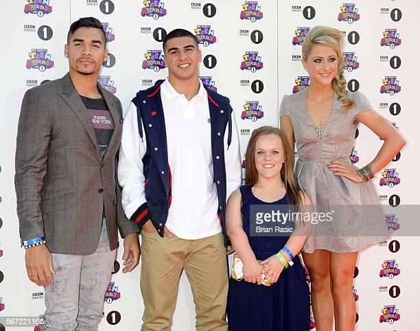 Bbc Radio 1'S Teen Awards Wembley Arena London Britain 07 Oct 2012 Louis Smith Adam Gemili Eleanor Simmonds And Laura Trott