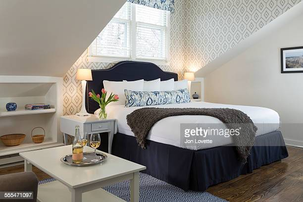 bbedroom interiors - bedding stock pictures, royalty-free photos & images