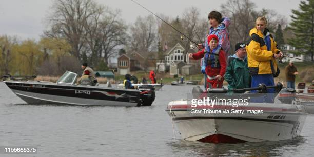 BISPING • bbisping@startribunecom Lake Minnetonka MN Saturday 4/25/2009] Wyatt Johnson Skyler Martinson Troy Johnson and Karly Smythe fished for...