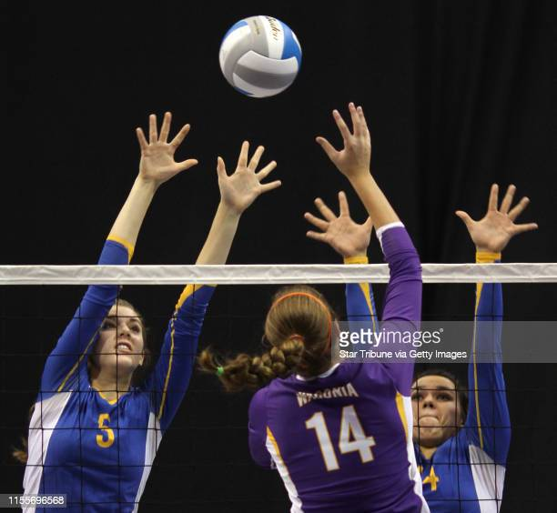 BISPING ¥ bbisping@startribunecom St Paul MN Friday 11/12/10] Girls Volleyball Championships Wayzata's Coral Evans Waconia's Jessica Wolf and...