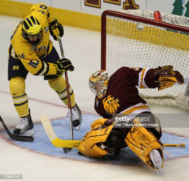 BISPING • bbisping@startribunecom St Paul MN Saturday 4/9/11] NCAA Frozen Four Finals Minnesota Duluth vs Michigan Michigan's Chris Brown's...