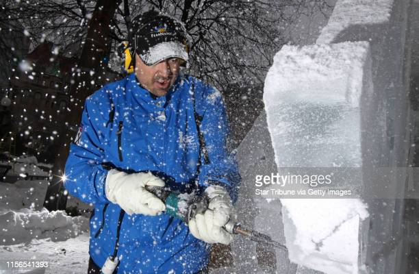 BISPING • bbisping@startribunecom St Paul MN Thursday 1/27/11] The snow and ice started to fly as Chris Swarbrick of Hudson Wisconsin used an...