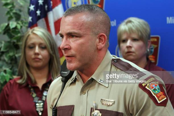 BISPING ¥ bbisping@startribunecom St Paul MN Thursday 4/14/2011] State Patrol Lt Chris Erickson spoke during the press conference were the Patrol...