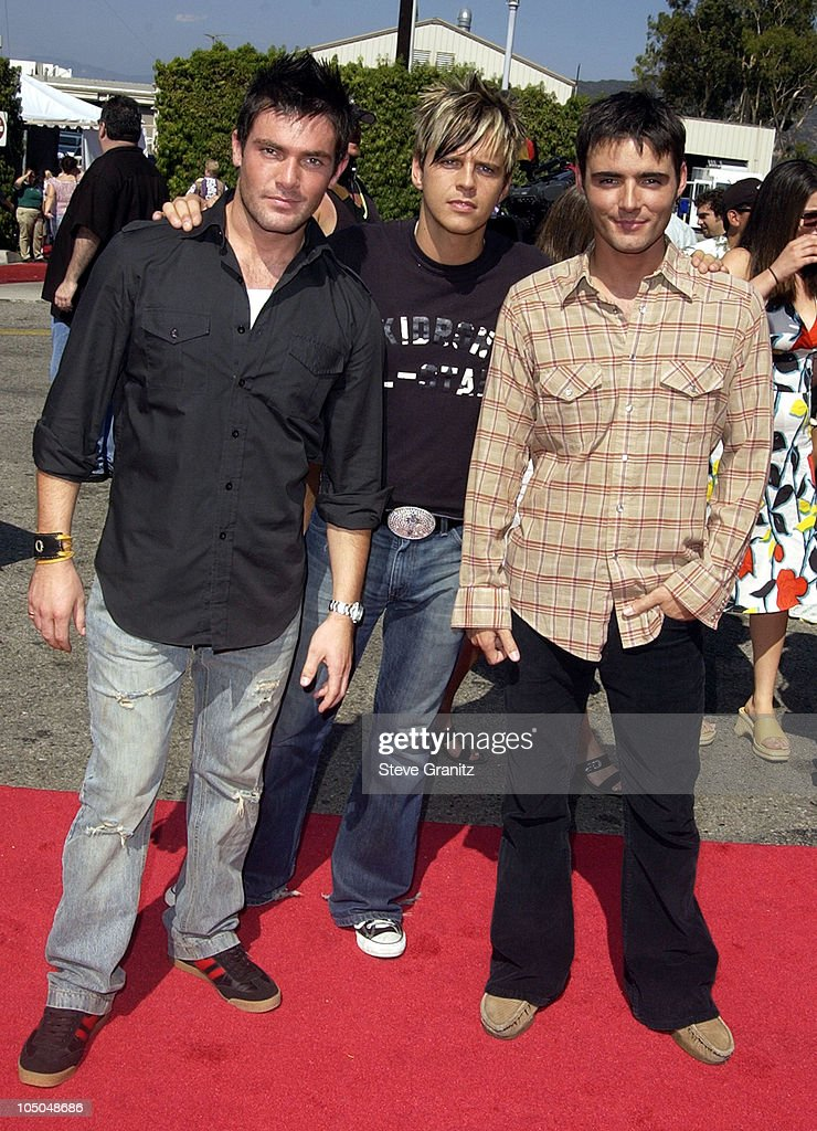 BBMak during The 2002 Teen Choice Awards - Arrivals at The Universal Amphitheatre in Universal City, California, United States.